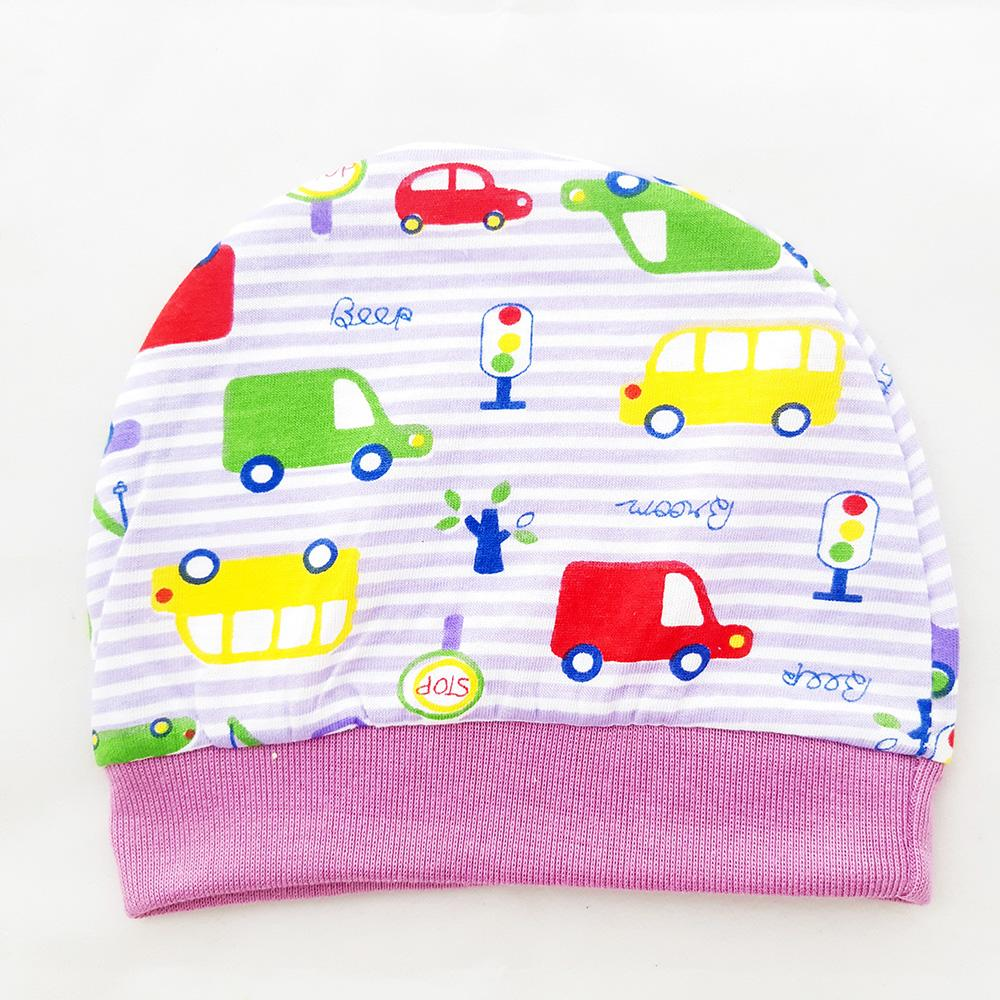 AA Toys Okiyo Topi Bayi Newborn Motif car Salur - Kupluk Bayi / Topi Bayi
