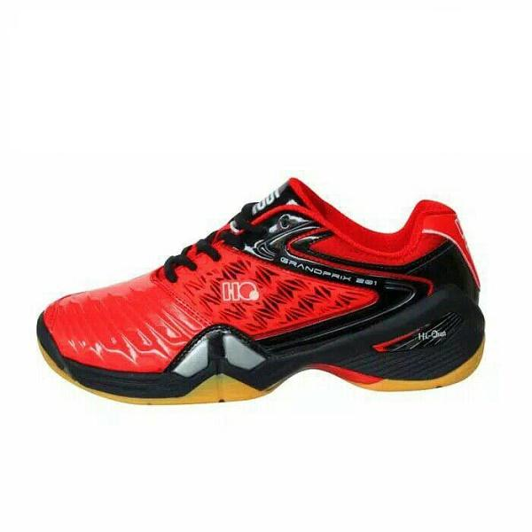 Hi-Qua GrandPrix Sepatu Badminton Pria - Red ee0200fe77
