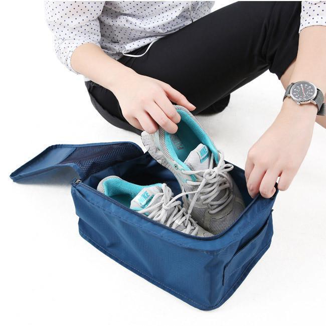Bailian Travel Season Shoes Organizer / Shoes Bags / Tas Sepatu - Navy
