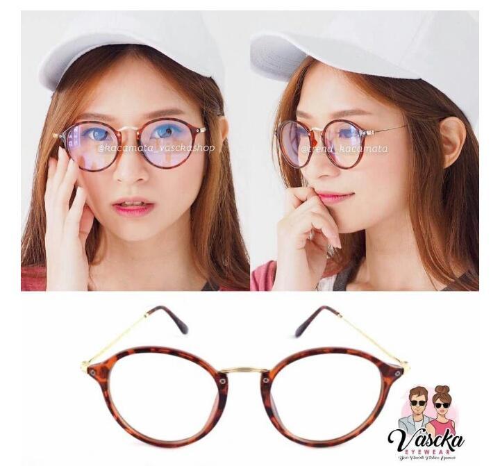 ... Kaca Mata Hitam Wanita Bingkai Besar Ala Korea dan Info Lengkap. Source · Kacamata Frame Oval Transparan Gaya Vintage untuk Pria / Wanita Leopard