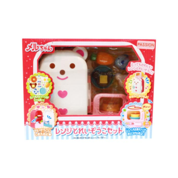 Mainan Anak Perempuan Mell Chan Refrigerator Microwave - Gophpr