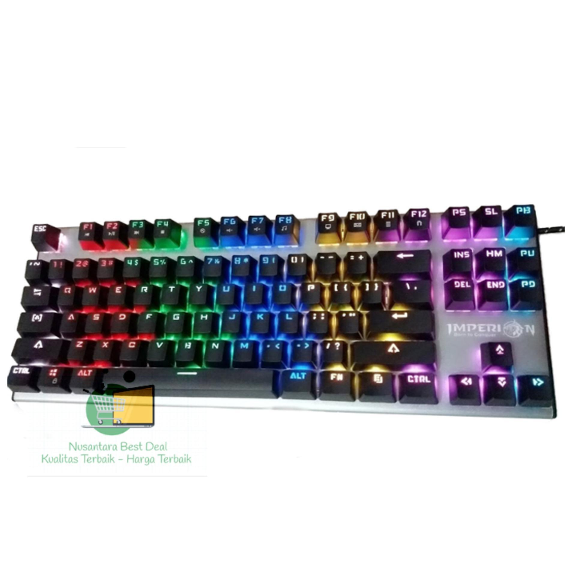 6e09e9989f1 Imperion Keyboard MECH 7, 87 Keys Mechanical Kailh Switch, RGB, Ori