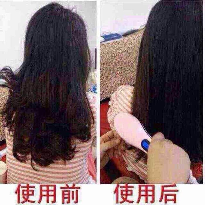 Best Seller Sisir listrik ion catok rambut lurus blow iron fast hair s