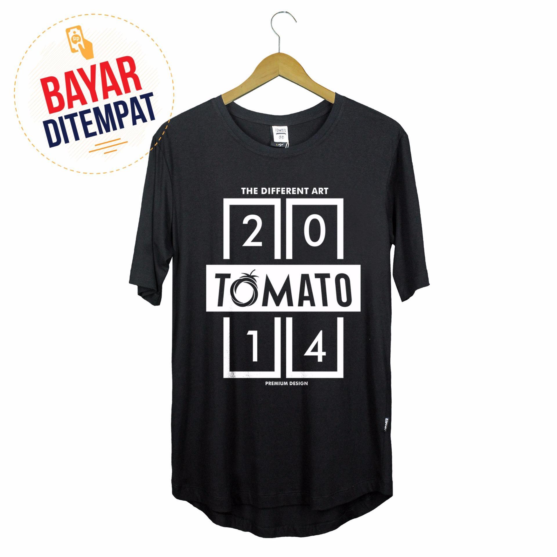Tomato Clothing Longline Tshirt Kaos Distro Original [Hitam] - Premium