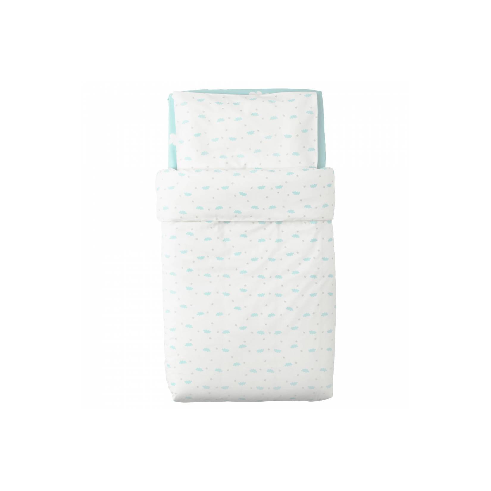 Harga Sprei Ikea Terbaru 2018 Knoppa Seprai Berkaret Putih Ukuran 90x200 Cm Himmelsk Untuk Ranjang Bayi Biru Muda