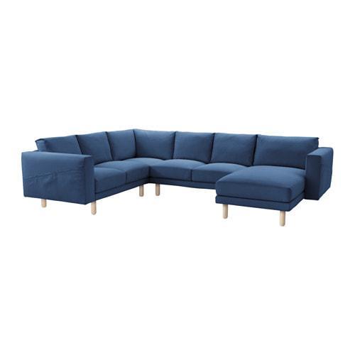 PROMO!! NORSBORG Sarung sofa sudut 2 2/chaise longue, Edum biru tua MURAH /  BUBBLE 3 LAPIS / ORIGINAL / IKEA ORIGINAL