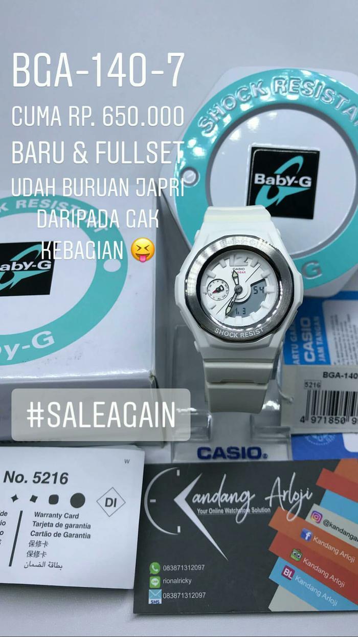 Buy Sell Cheapest Casio Babyg Original Best Quality Product Deals Baby G Bga 230 7b2 Bga140 7b 140 Jam