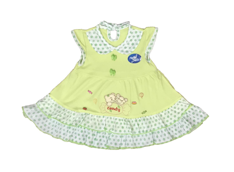 Rp 22.990 BAYIe - Baju bayi Perempuan Dress motif CANDY 2 BEAR PLANET KIDS usia 0-12 bulan / Pakaian anak CewekIDR22990