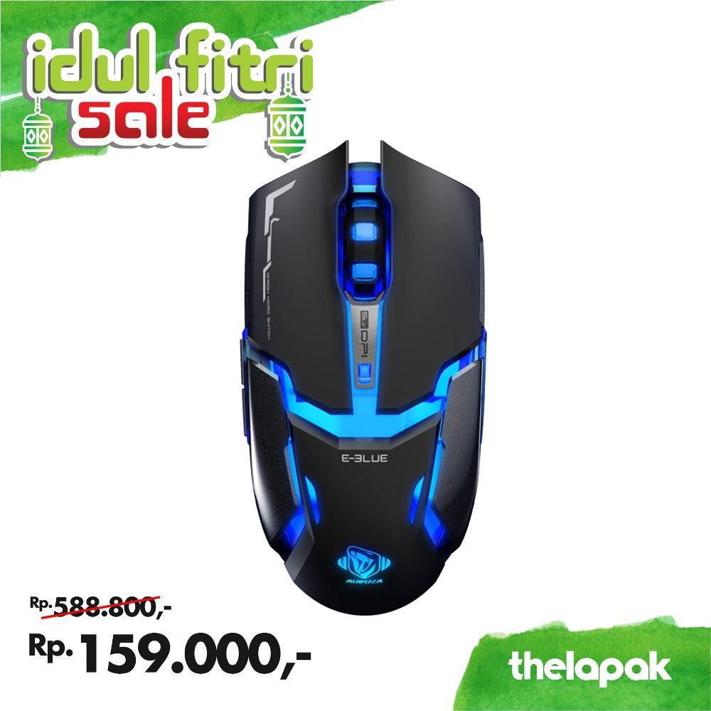 E-Blue Mouse Gaming Auroza Type-IM Black / Mouse Basic / Mouse Office / Aksesories Komputer