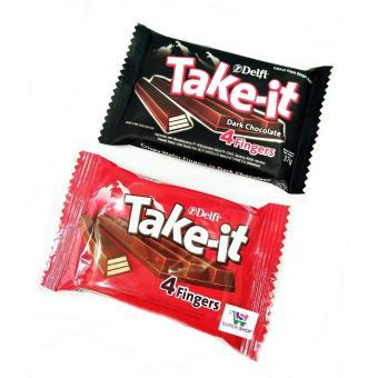 Harga preferensial Delfi Take It Milk Chocolate / Dark Chocolate 37 Gram beli sekarang - Hanya Rp16.308