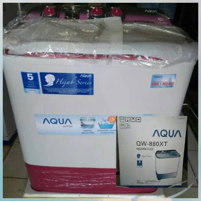 Mesin Cuci 2 Tabung Aqua 880 Xt - ready stock