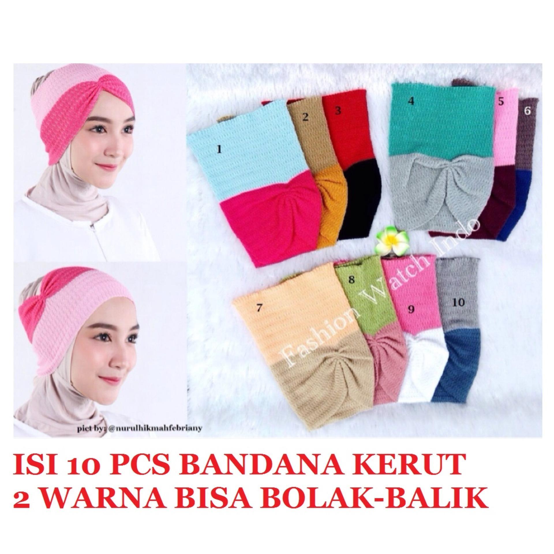 Jual Hijab Brand Terbaru Tas Import Ohanel Gratis Instan Najwa 10pcs Bandana Ciput Rajut Kerut Dua Warna Bisa Bolak Balik