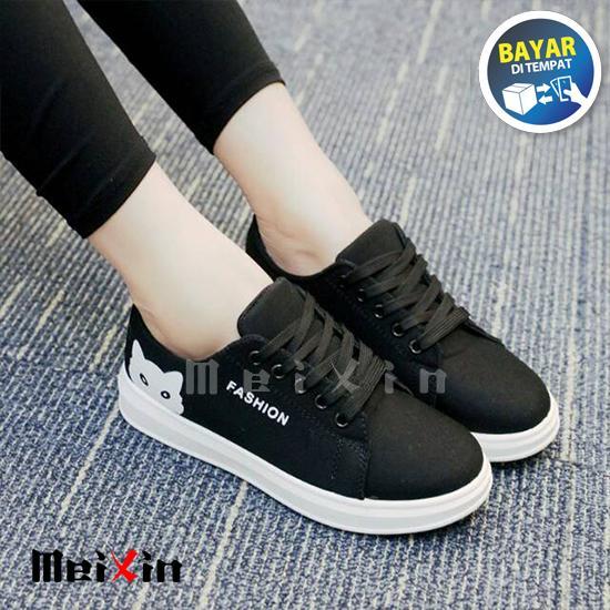 MeiXin Sepatu Kets Sneakers Wanita Fashion Model Kucing