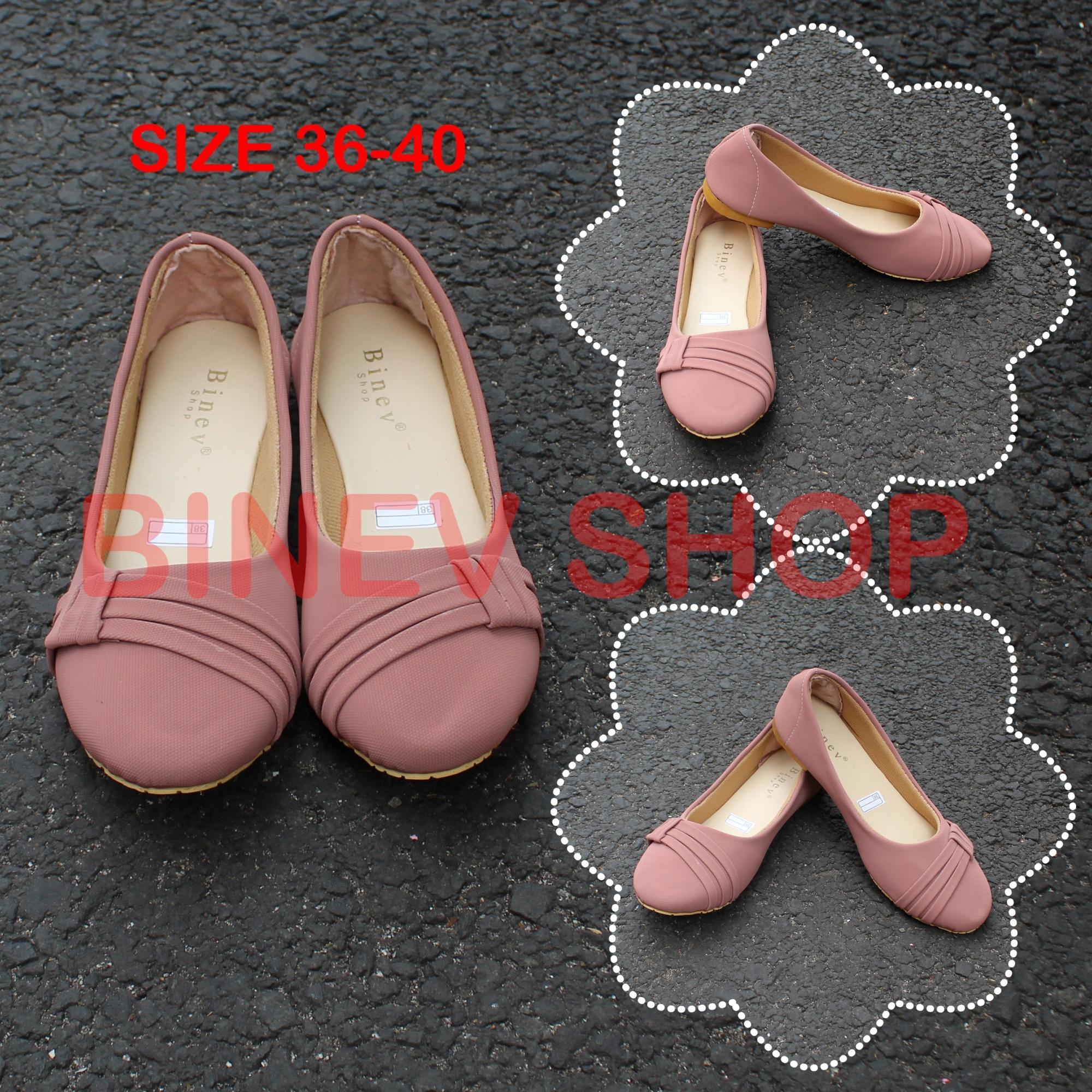 Binev Sepatu Slip On Wanita B-048 PITA SAMPING 02