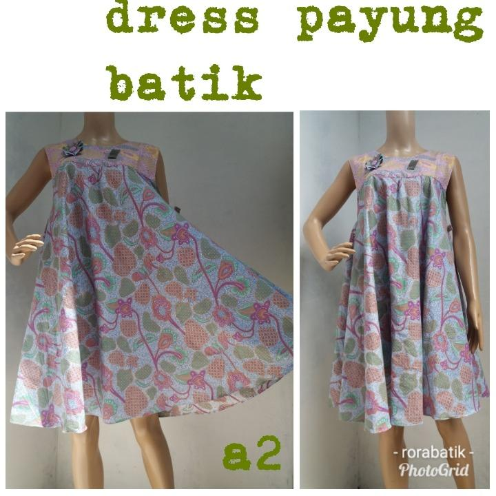 SALE 50% OFF : dress batik remaja (warna soft)