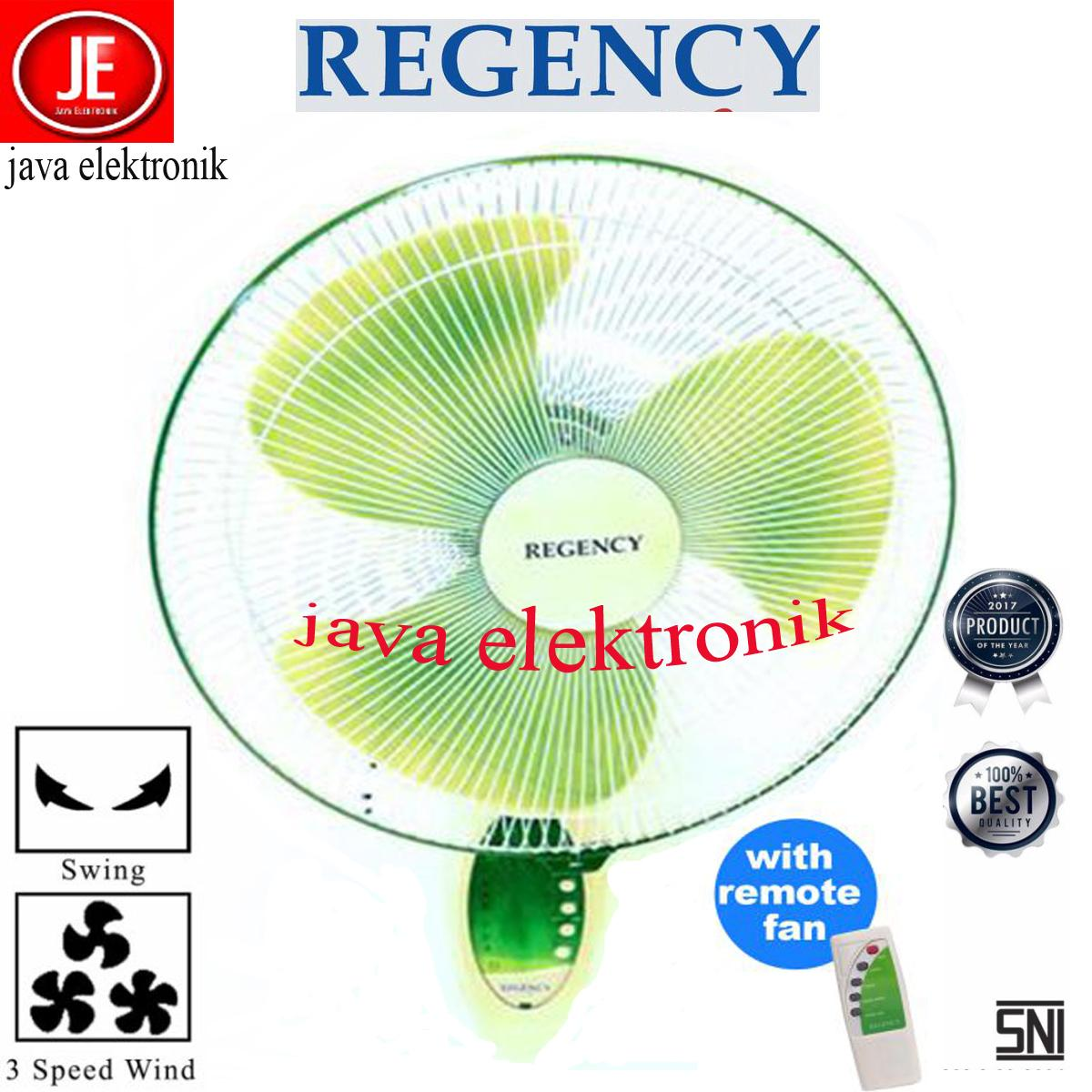 REGENCY Kipas Angin Dinding Wall Electric Fan Remote ZWFR-16 garansi resmi