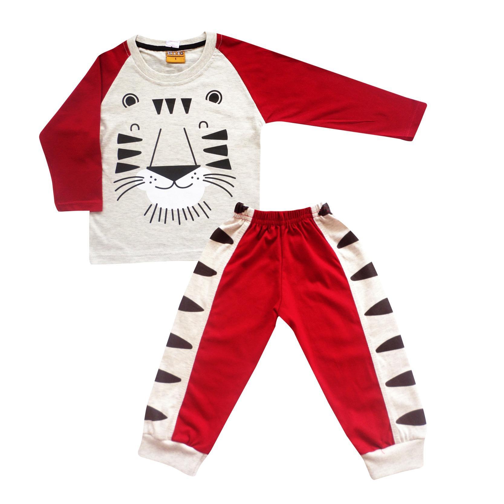 Skabe Baju Tidur Anak Bayi Laki Stelan Kaos Celana 3/4 2554