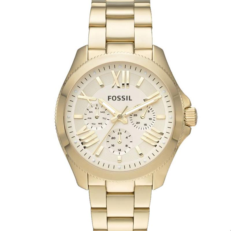 Fossil Cecile Chronograph - Jam Tangan Wanita - Gold - Stainless Steel - AM4510