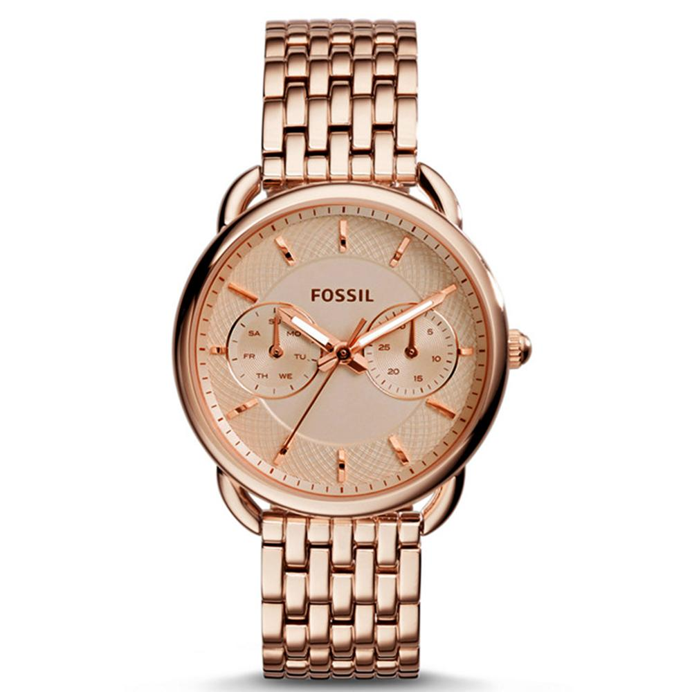 Fossil Taylor Chronograph - Jam Tangan Wanita - Rosegold - Stainless Steel  - ES3713 - Watch bc65a20211