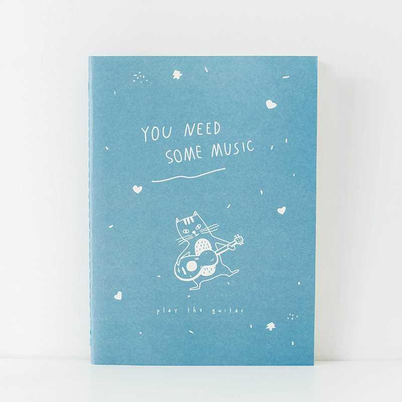 BEST SELLER Happy Active Cat Ruled Notebook B5 / Buku Catatan Garis B5 HARGA TERMURAH