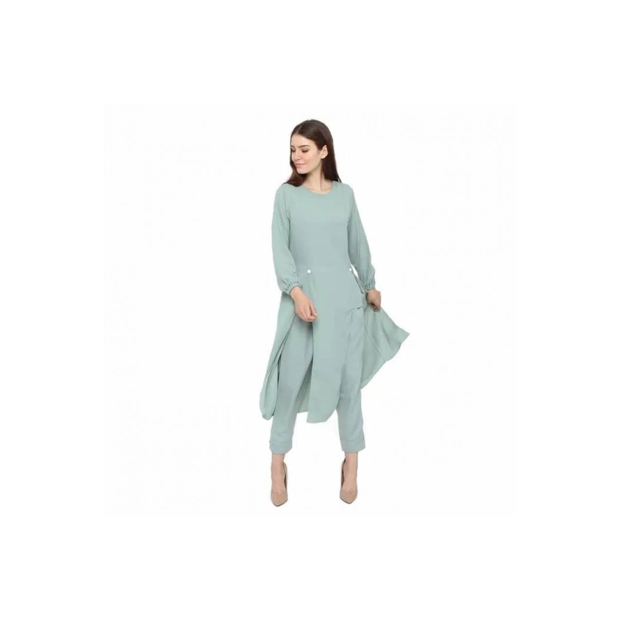 Pakaian Wanita JS 2LLS26 Busana Muslim Setelan Celana Baju Gamis