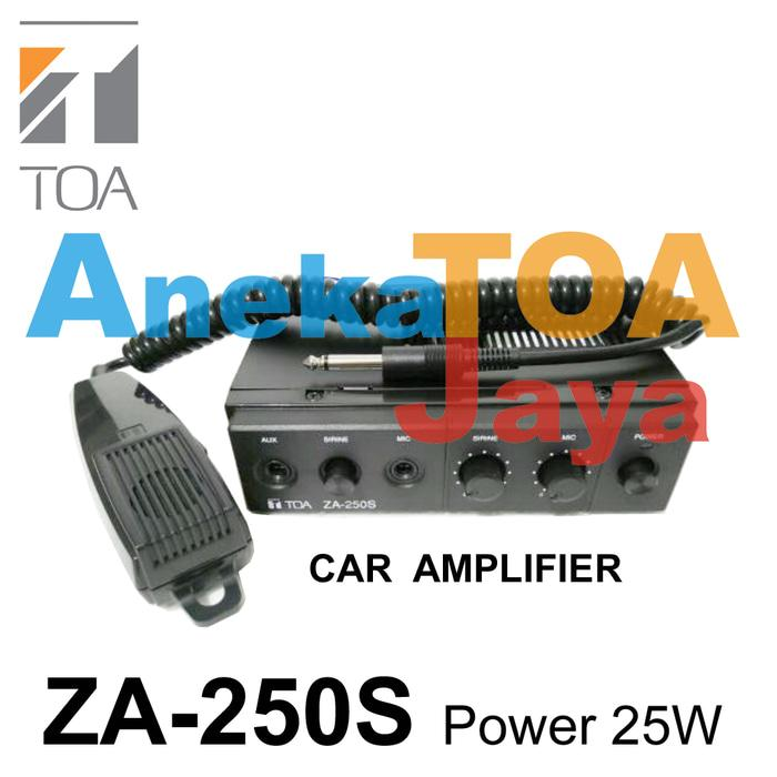 Original TOA ZA-250S ORIGINAL CAR AMPLIFIER MIXER POWER 25 WATT ASLI 250 S