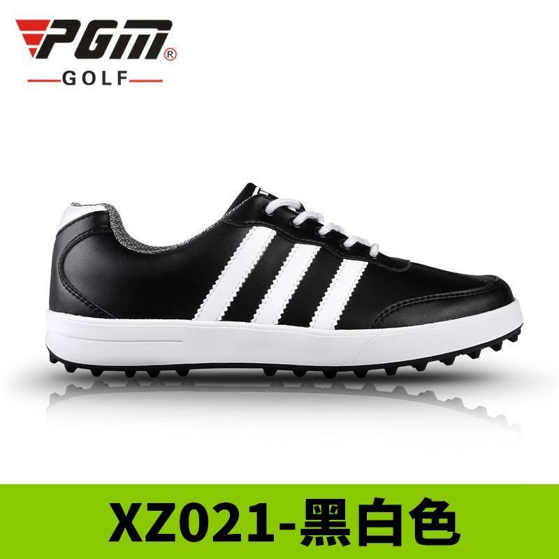 Pgm Sepatu Golf Model Pria (hitam Dan Putih (tiga Bar Putih)) By Koleksi Taobao.