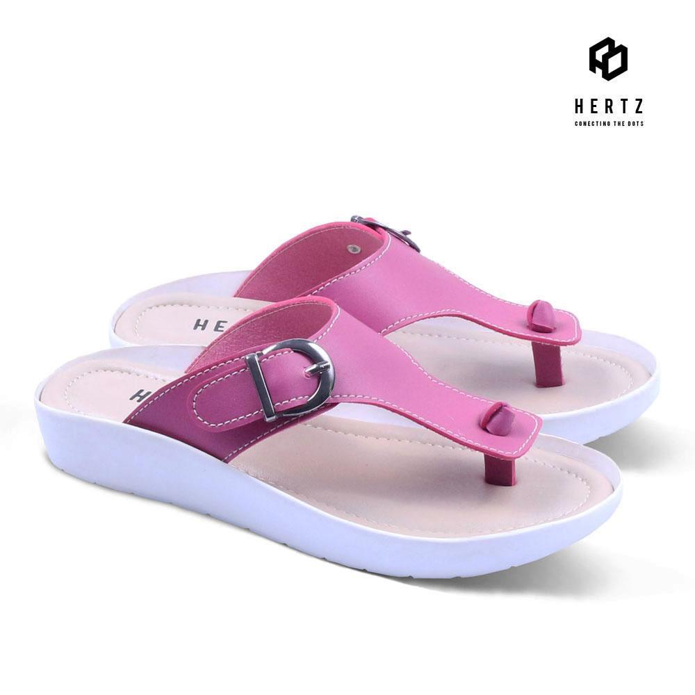 Sandal Wanita H 2129 Sandal Cewek Cantik Brand Hertz Original Model Terbaru Harga Murah Kualitas Bagus Warna Pink