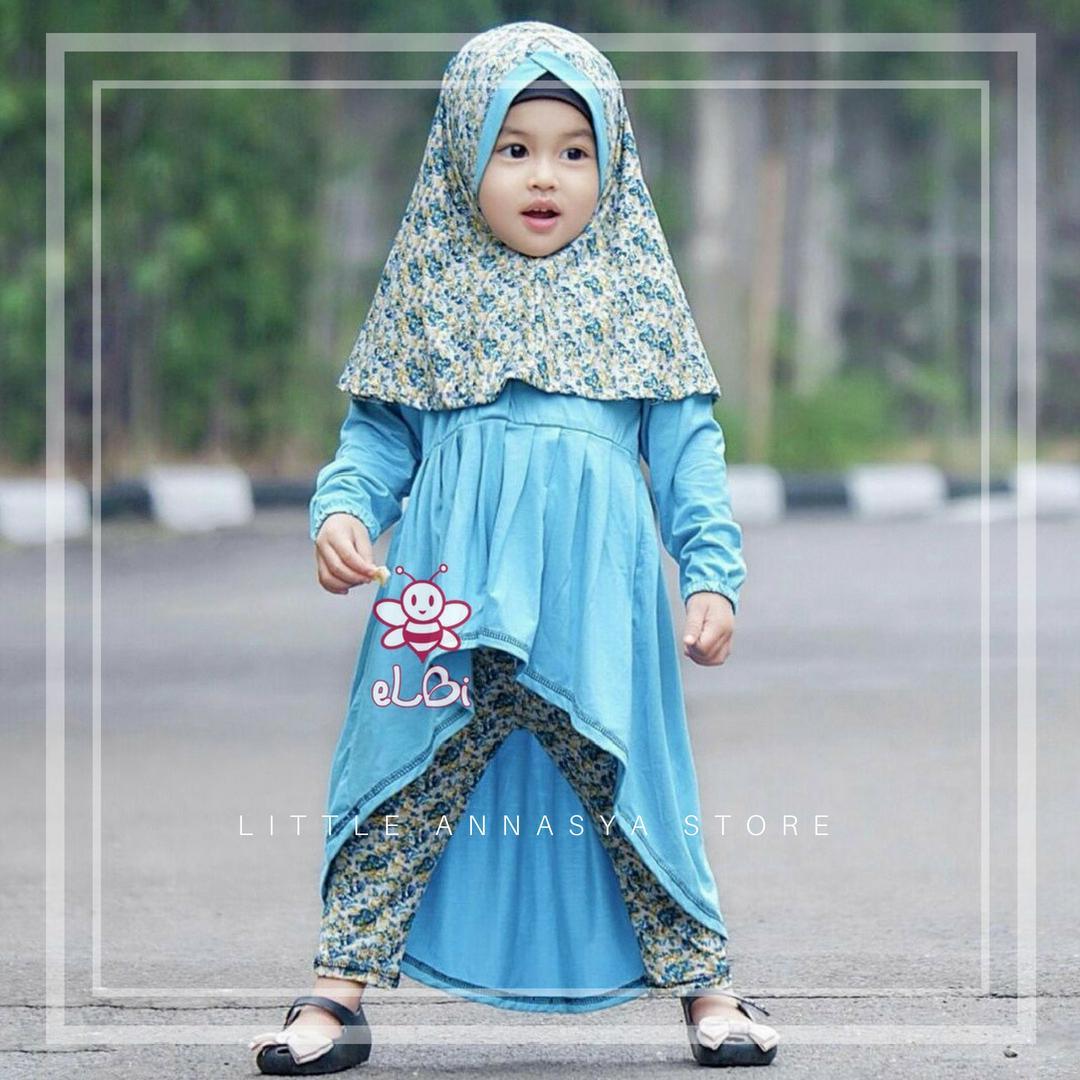 Baju Muslim Anak Perempuan / Baju Muslim Balita Perempuan / Busana Muslim Balita / Gamis Balita / Baju Muslim Balita / Baju Pesta Anak Muslim / Farah Legging Set