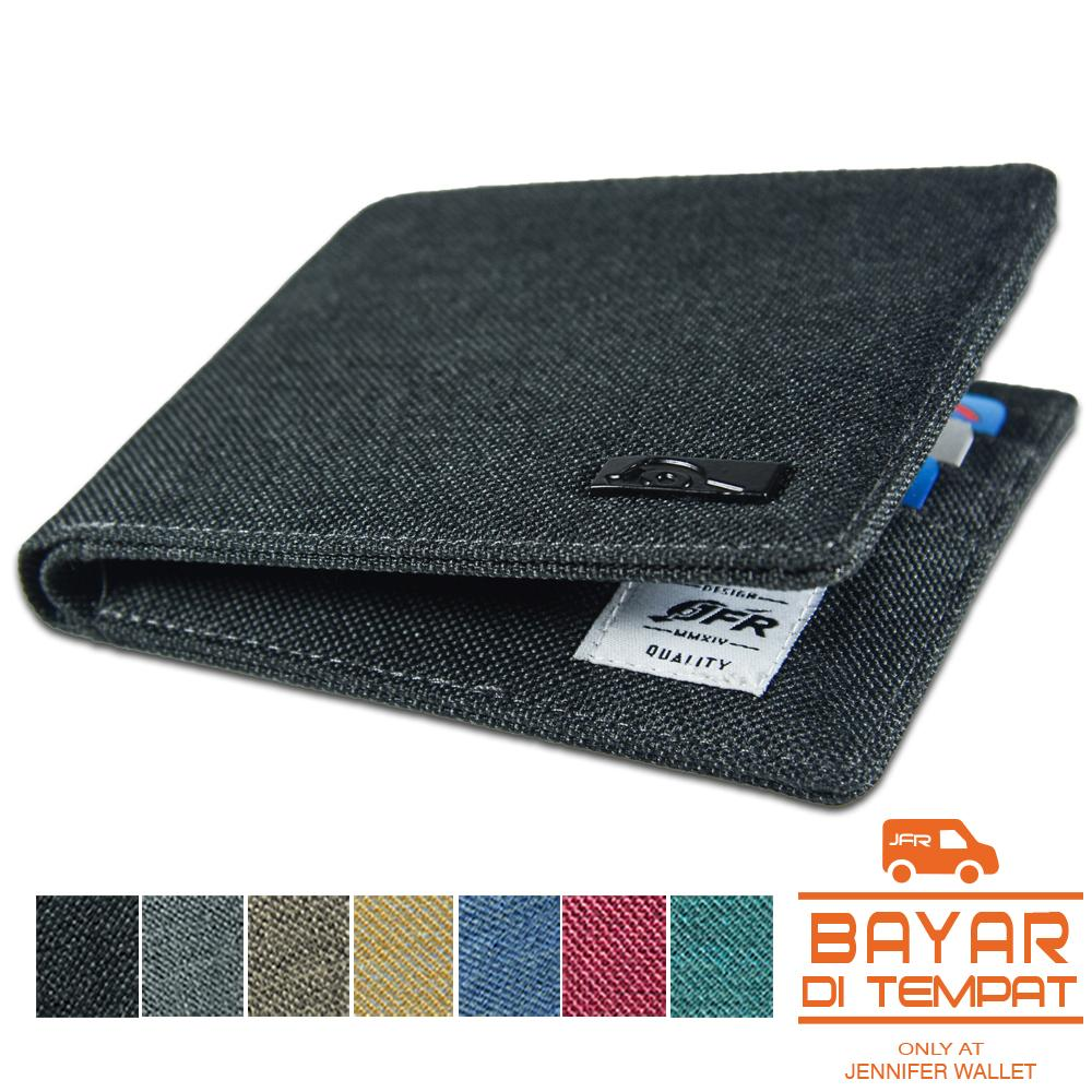 Jfr Fashion Dompet Pria Bahan Kulit Canvas Jp07 By Jenniferwallet.