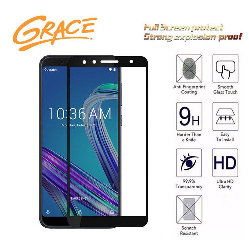 Grace Asus Zenfone Max Pro M1 / ZB602KL  - 5.99 inch - 2.5D Full Screen Tempered Glass - Lis Hitam