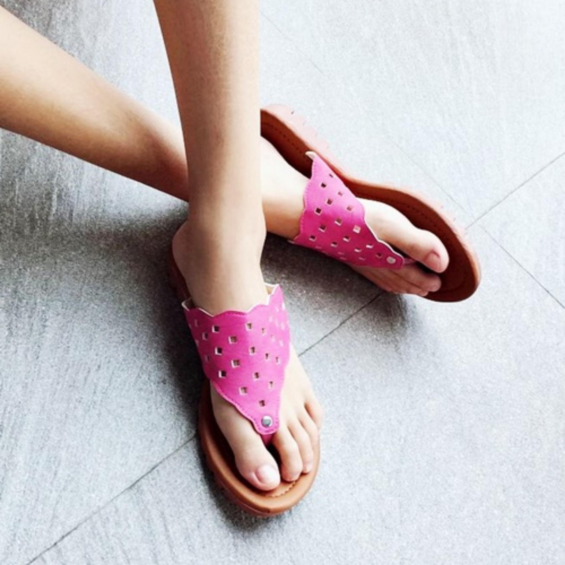 Marlee DN-22 Sandal Flip Flop Flat Wanita - Salem
