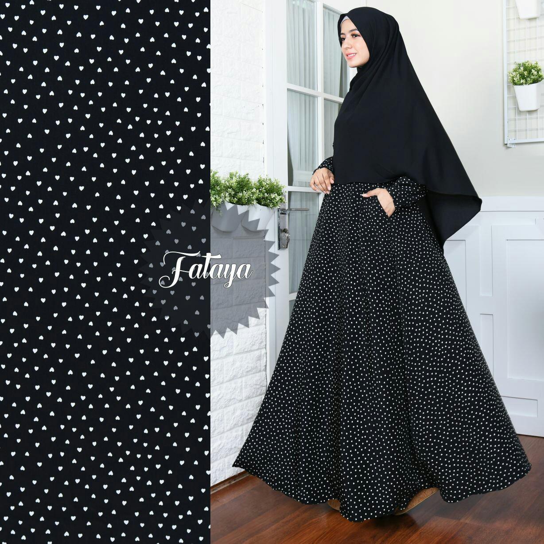 JR Baju Muslimah – JR Gamis Wanita – Gamis Monalisa - Tanpa Kerudung - Full Colour