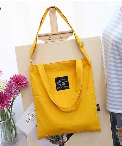 Tas Wanita Tote Kanvas/ Tas Tote Model Korea Best Seller / Tote Kanvas Bag 2 In 1