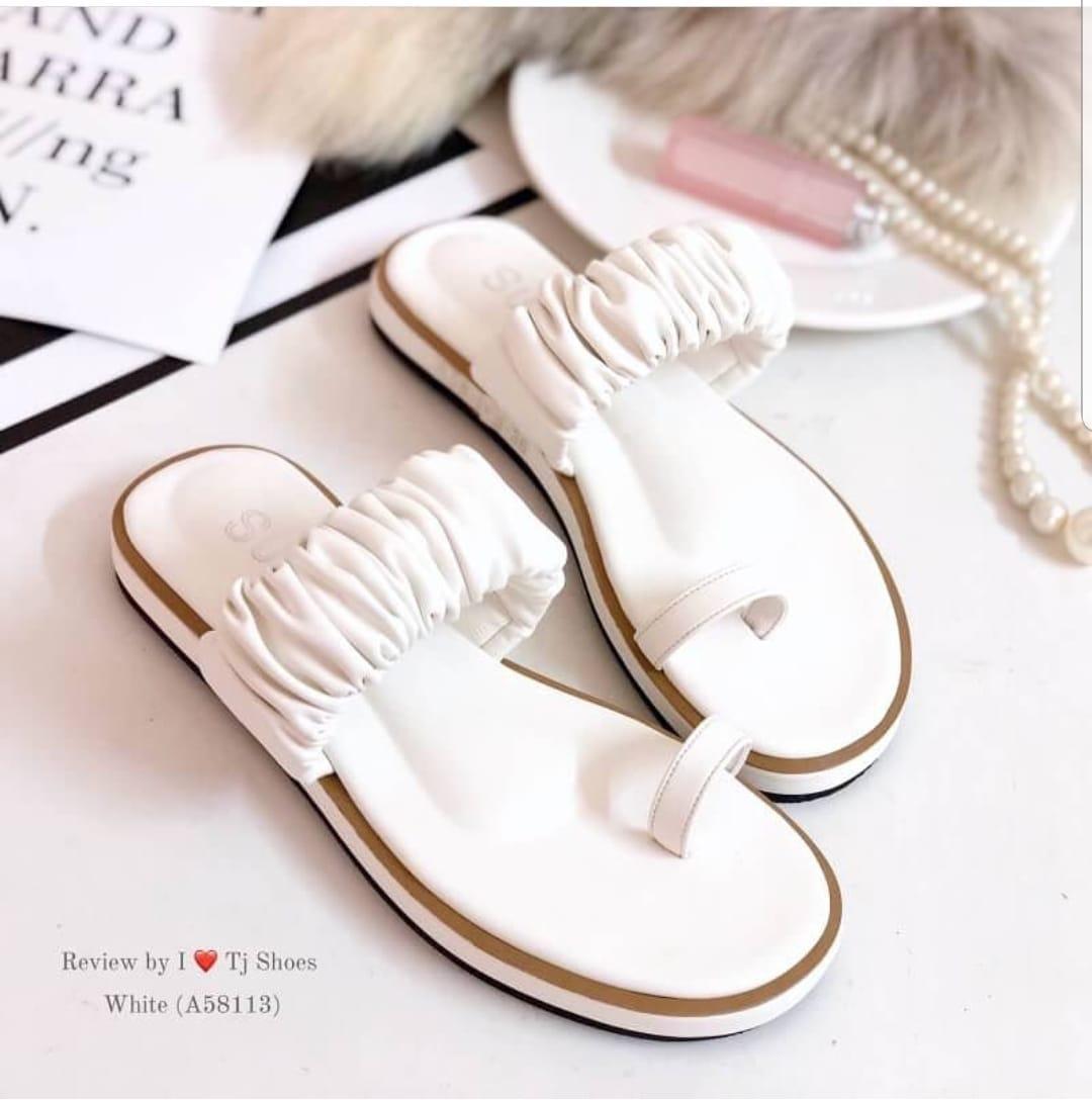Sandal / Sendal Tali Xena Flat Untuk Wanita / Cewek Bahan Suede / Beludru SantaiR01