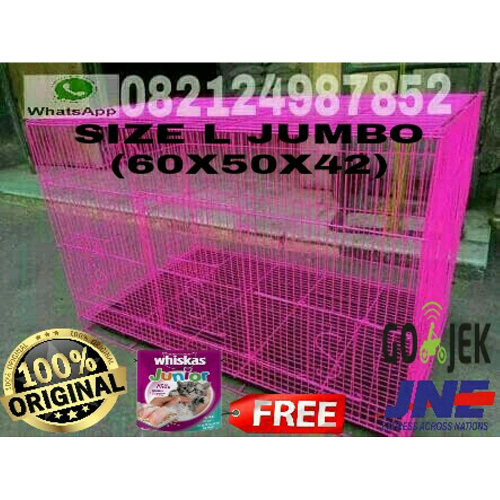 Kandang Lipat Besi SIZE L 60X50X42 Sweet Original Kucing Kelinci Sugar Glider Anjing Puppies Marmut Hamster Landak Iguana Ayam Hias DLL