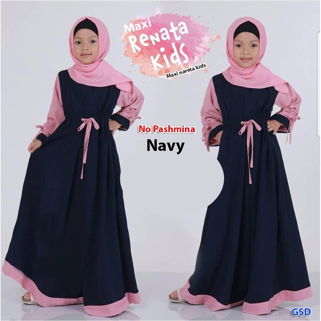 Wow keren - Baju muslim anak / gamis anak/ maxi anak / dress anak / jilbab anak / syarii anak Nareta.