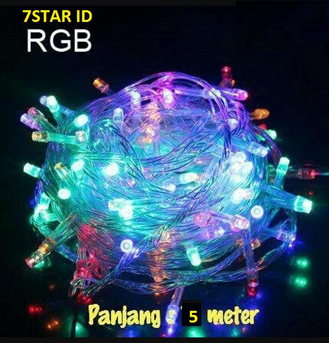 Lampu Tidur Tumblr Rainbow 5 Meter Rgb Warna Warni Lamp Natal 7star