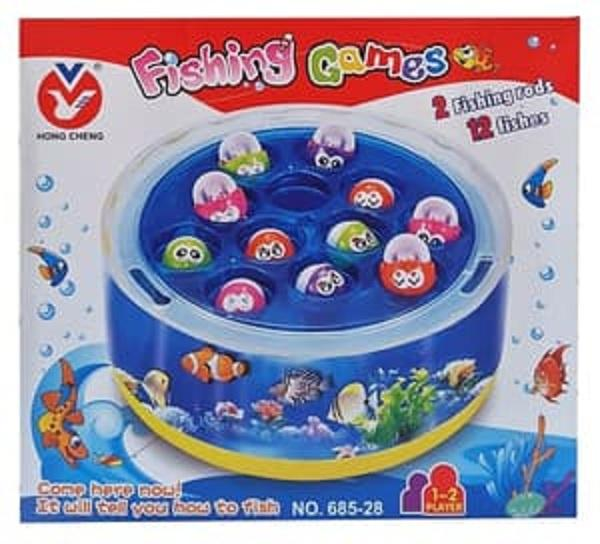FISHING GAMES 2 RODS 12 FISHES 685-28 MAINAN ANAK PANCINGAN