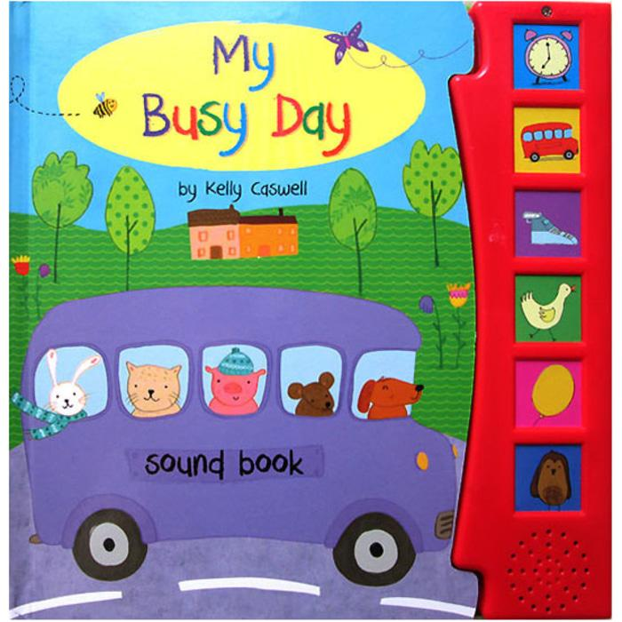 Terlaris My Busy Day Sound Board Book with 6 sounds Stories for Kids Harga Grosir