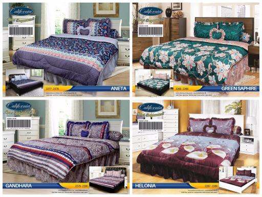 BEDCOVER SET CALIFORNIA / MY LOVE KING 180X200 / BED COVER SET - BC HELONIA EXCLUSIVE