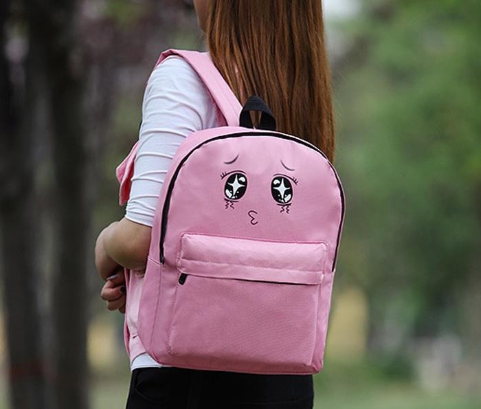 OILA tas ransel korea mata lucu / Korean ulzzang eyes backpack BTA039