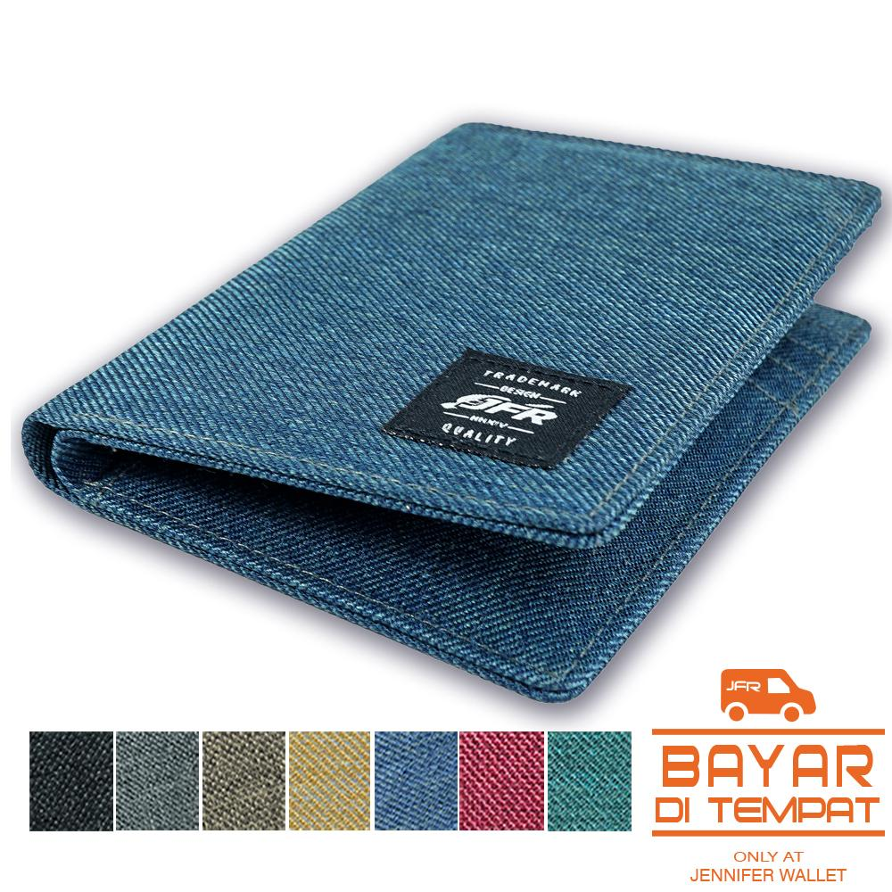 Jfr Fashion Dompet Pria 3/4 Bahan Kulit Canvas Jp11 By Jenniferwallet.