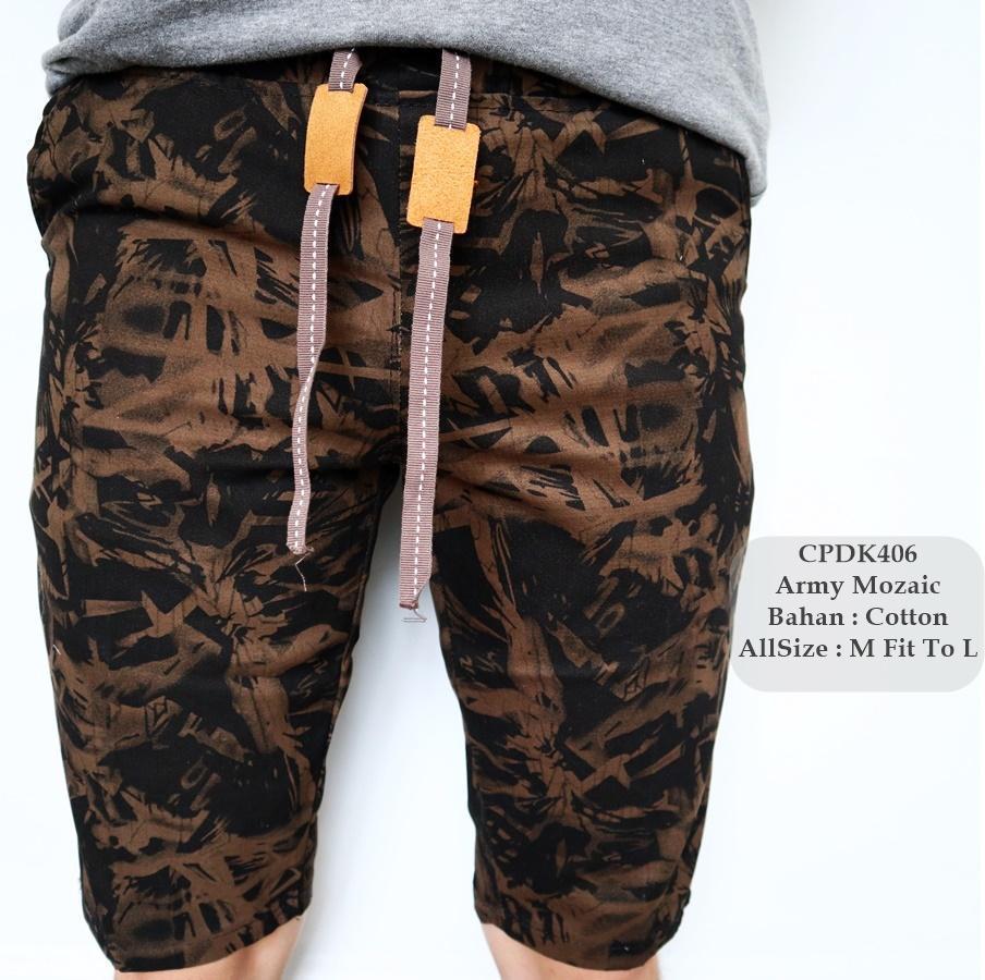 RANDOM MOTIF/AMD- Celana Pendek Distro Printing/ Celana Skinny/Celana Pants/