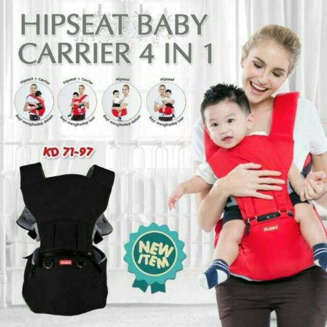 Kiddy hipseat 4in1/hipseat kiddy baby carrier/hipseat kiddy terbaru/kiddy hiprest Variasi Merah