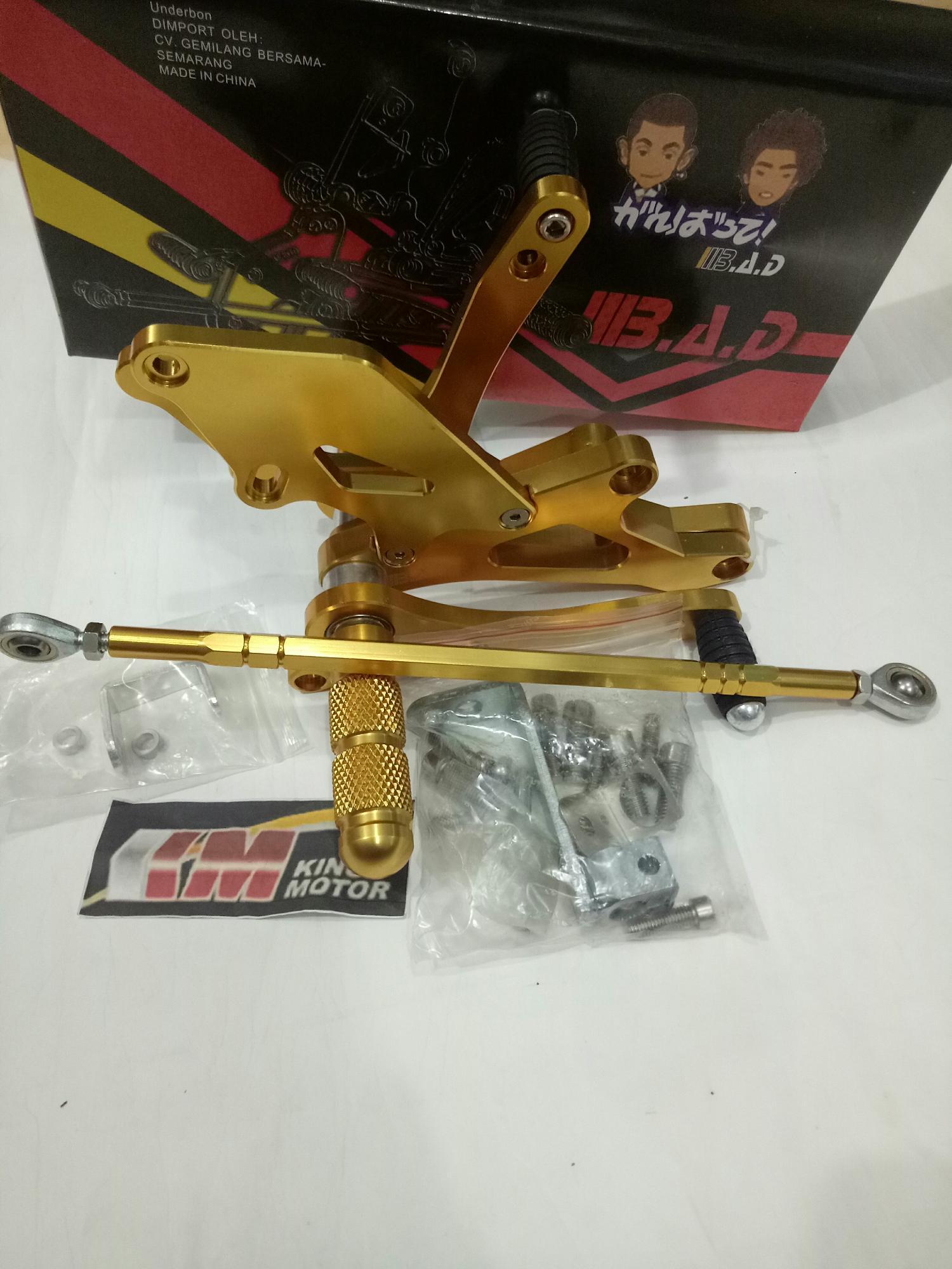Footstep Underbone Ninja 150 R & RR BAD Gold