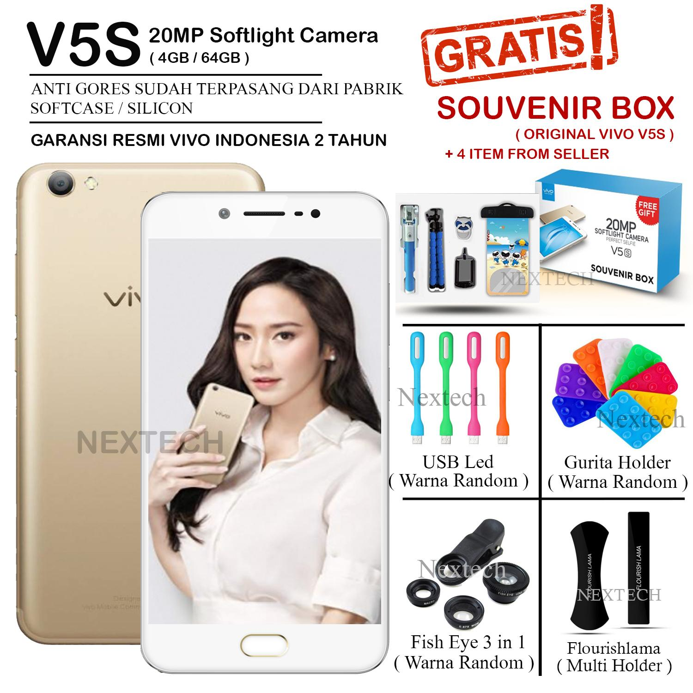 Vivo V5s - Perfect Selfie - Ram 4GB - Rom 64GB - Garansi Resmi - Crown Gold