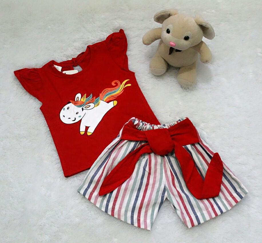 All Size 3-12 Bulan / Setelan Baju Celana Bayi Anak - Pegasus With Blaster