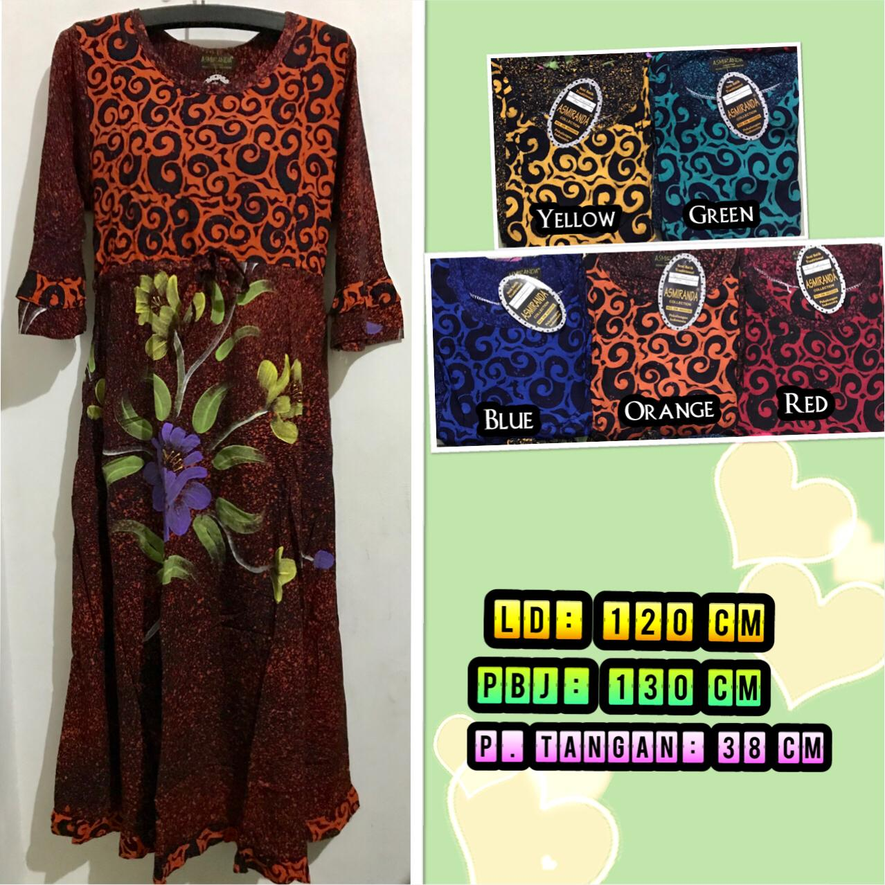 Dress batik klok Asmiranda model karet pinggang