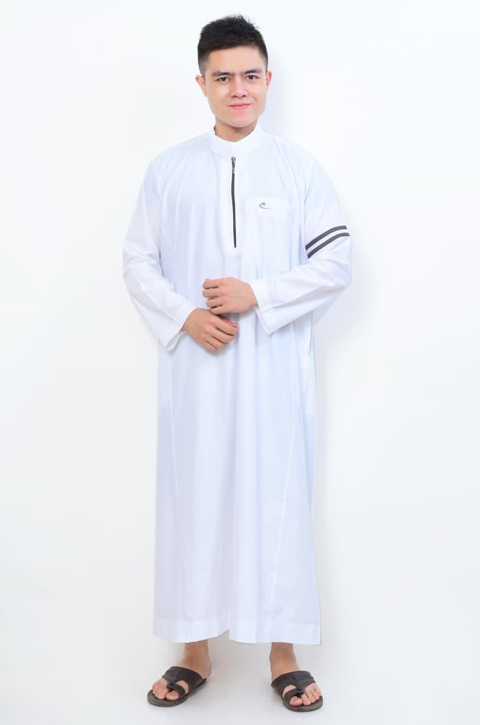 PROMOSI Pakaian Muslim Gamis Pria Jubah Putih Model Nabawi AL-ISRA MURAH